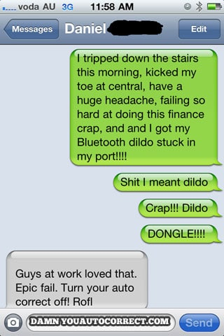 Iphone funny autocorrect dongle