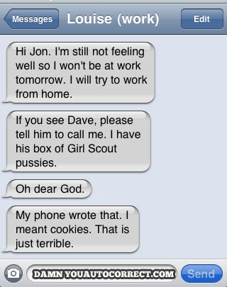 Iphone funny autocorrect girl scout