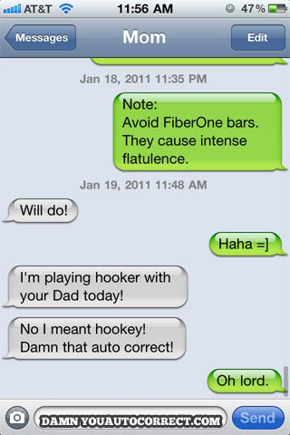Iphone funny autocorrect hooker hockey