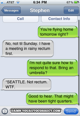 Iphone funny autocorrect seattle
