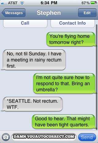 Iphone funny autocorrect seattle