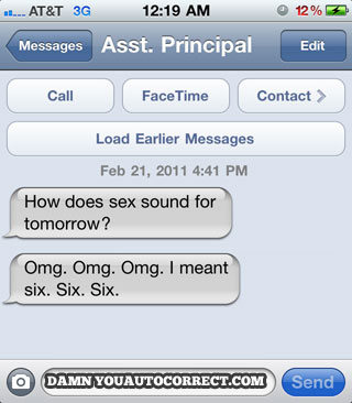 Iphone funny autocorrect sex tomorrow